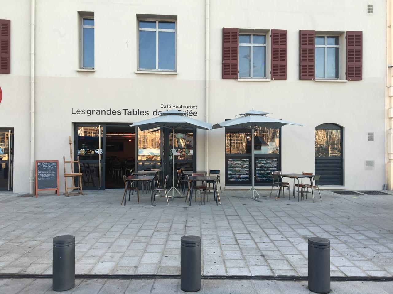 Restaurant vieux port les grandes tables de la cri e love spots - Les grandes tables de la friche ...